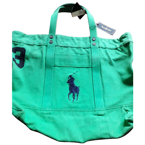 Polo Ralph Lauren Green Cloth Travel Bag