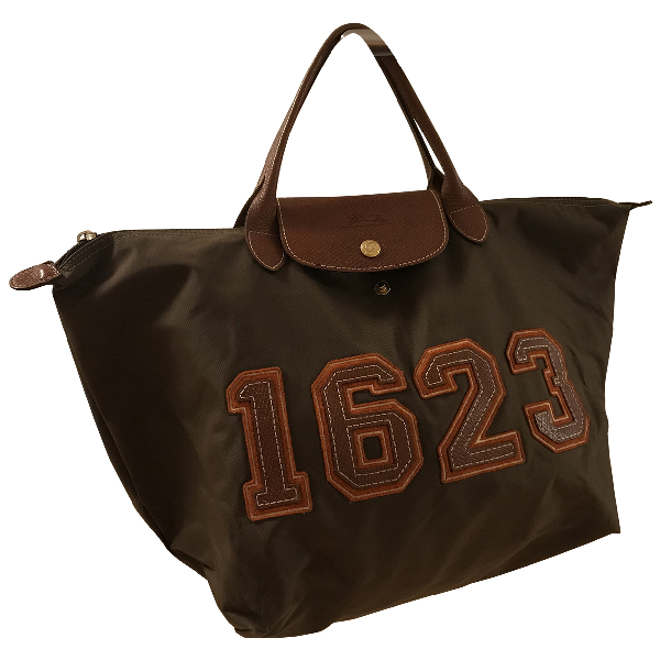 Longchamp Pliage  Brown Cloth Handbag
