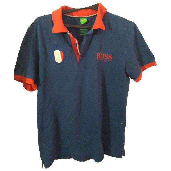 Hugo Boss Blue Cotton Polo Shirts