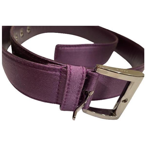 Prada Purple Silk Belt