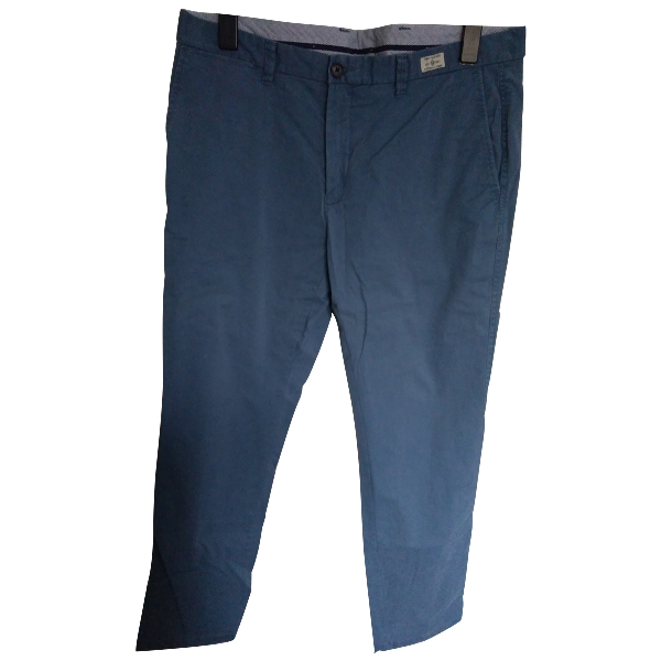 Tommy Hilfiger Blue Cotton Trousers
