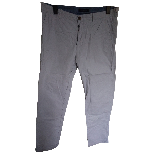 Tommy Hilfiger White Cotton Trousers