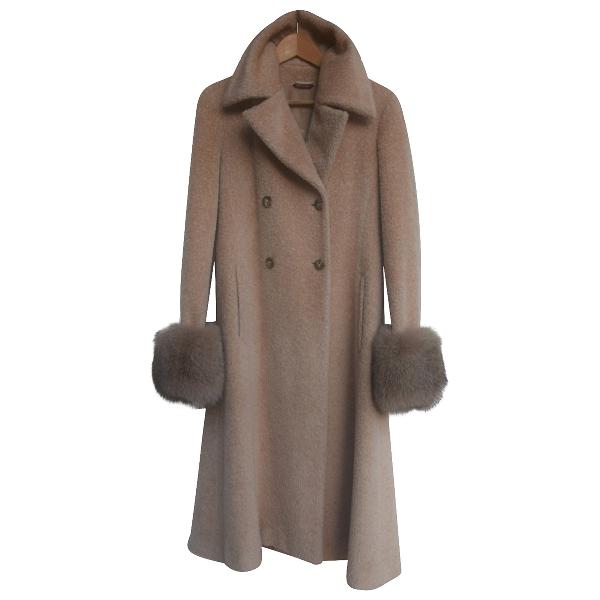 Max Mara Beige Wool Coat