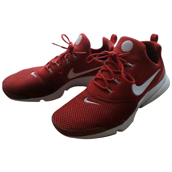 Nike Air Presto Red Cloth Trainers