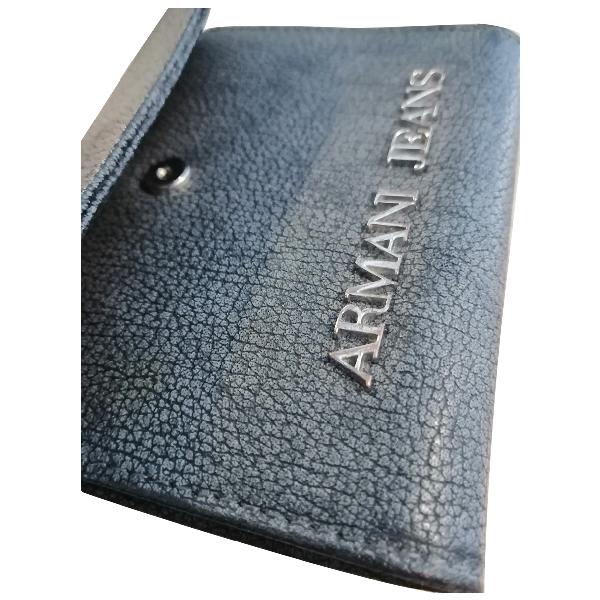 Armani Jeans Grey Leather Wallet