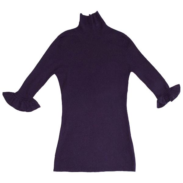 Burberry Purple Cashmere Knitwear
