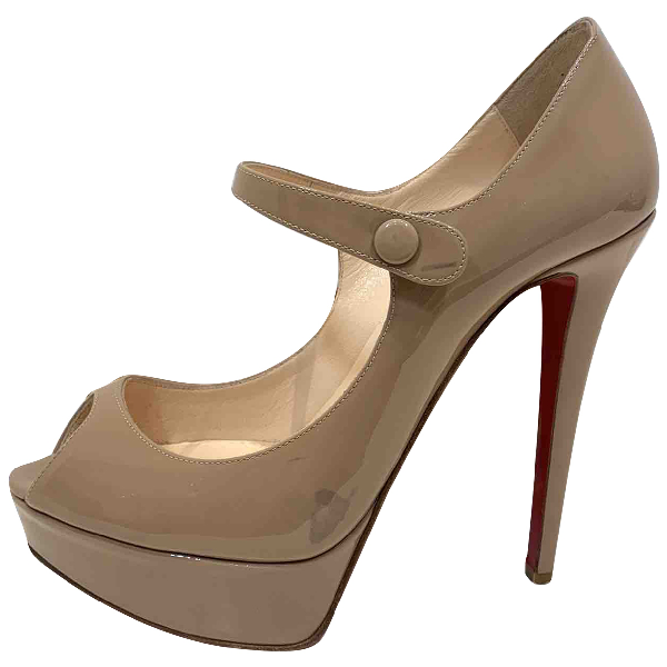 Christian Louboutin Camel Patent Leather Heels
