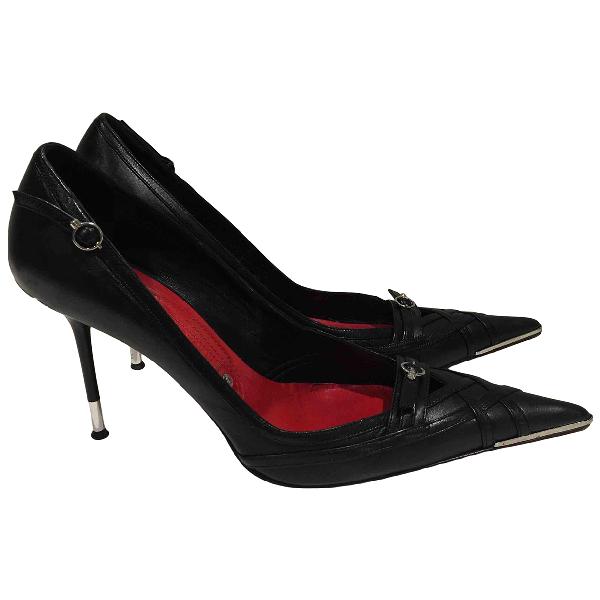 Gianmarco Lorenzi Black Fur Heels