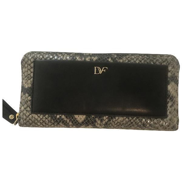 Diane Von Furstenberg Black Leather Wallet