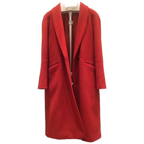 Jigsaw Orange Wool Coat