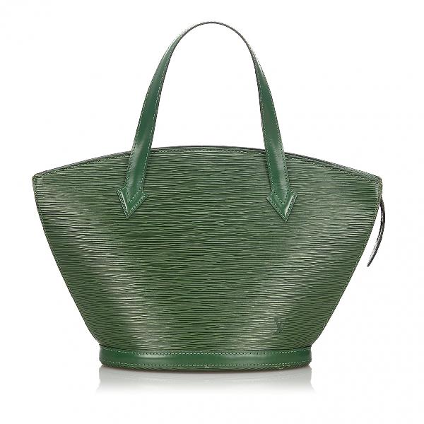 Louis Vuitton Saint Jacques Green Leather Handbag