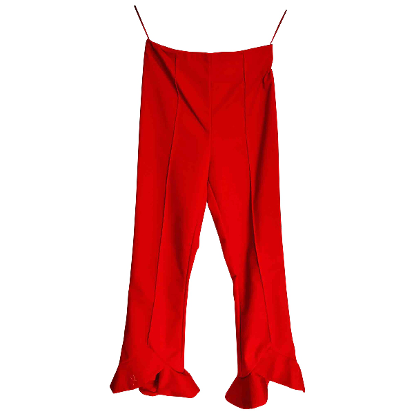 C/meo Collective Red Cotton Trousers
