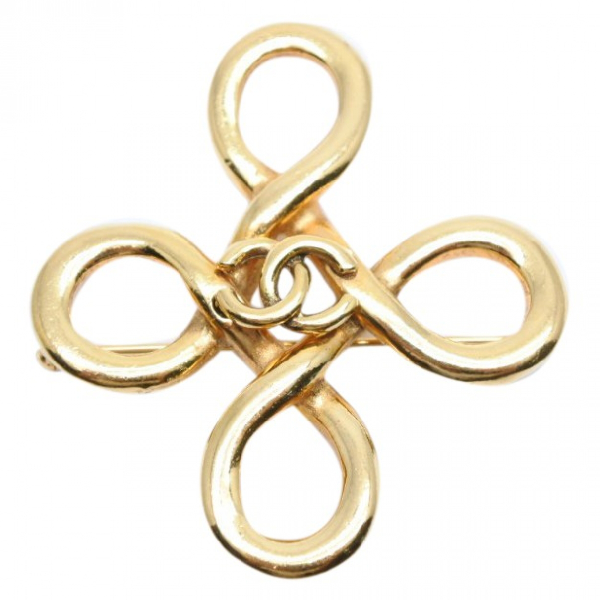 Chanel Cc Gold Metal Pins & Brooches
