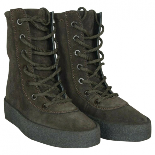 Yeezy Black Suede Boots