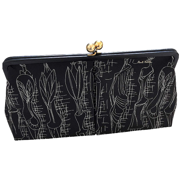 Paul Smith Black Leather Clutch Bag