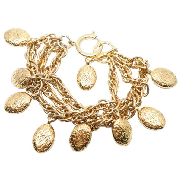 Chanel Gold Metal Bracelet