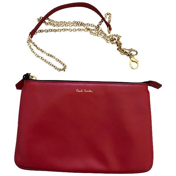 Paul Smith Red Leather Handbag