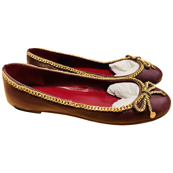 Marc By Marc Jacobs Burgundy Leather Ballet Flats