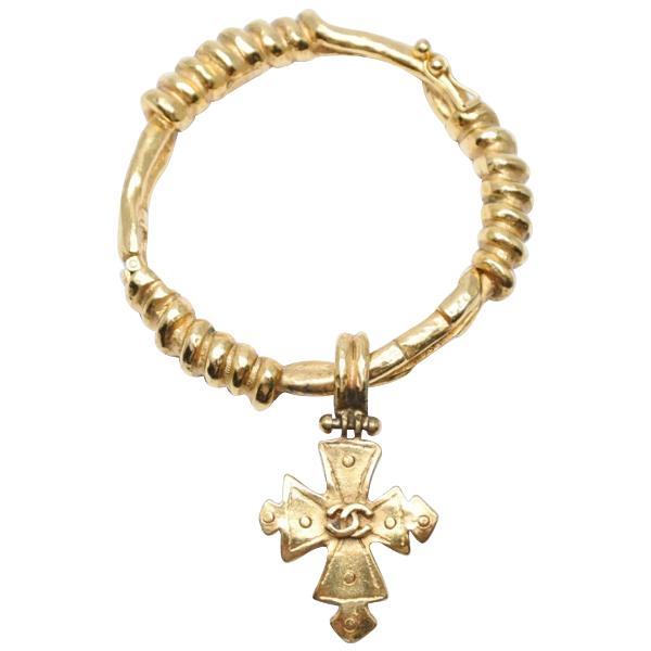 Chanel Gold Gold Plated Bracelet