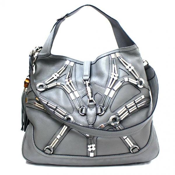 Gucci Grey Leather Handbag