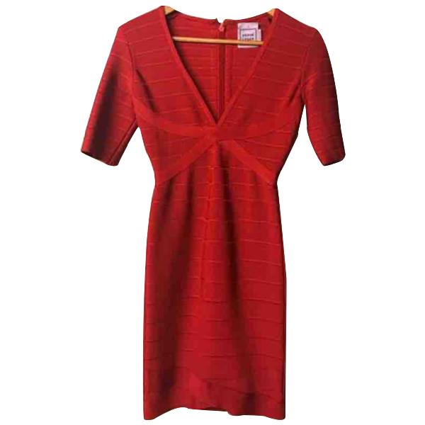 Herve Leger Red Dress