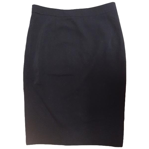 Karl Lagerfeld Blue Wool Skirt