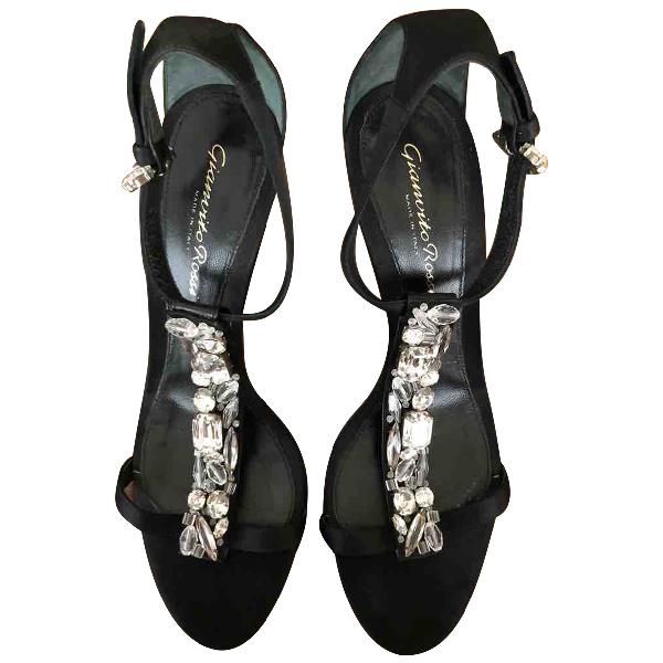 Gianvito Rossi Black Cloth Heels
