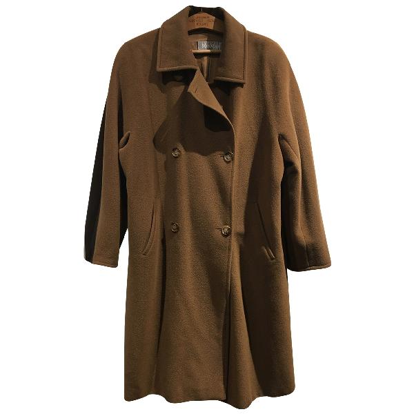 Max Mara 101801 Brown Wool Coat