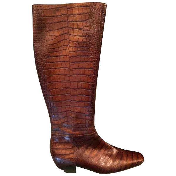 Dior Brown Crocodile Boots