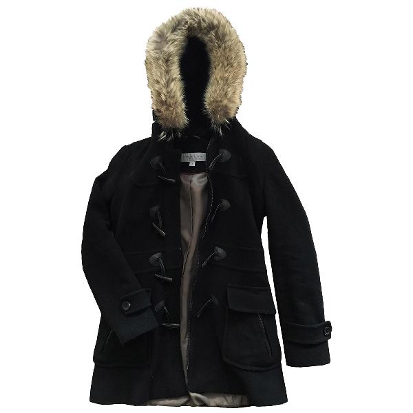 Andrew Marc Black Wool Coat