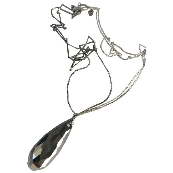 Swarovski Grey Metal Pendant
