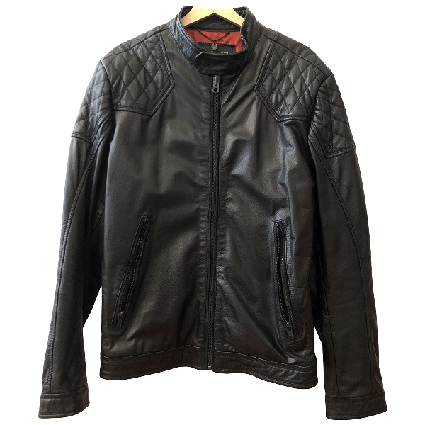Diesel Black Leather Jacket