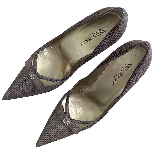 Dolce & Gabbana Beige Python Heels