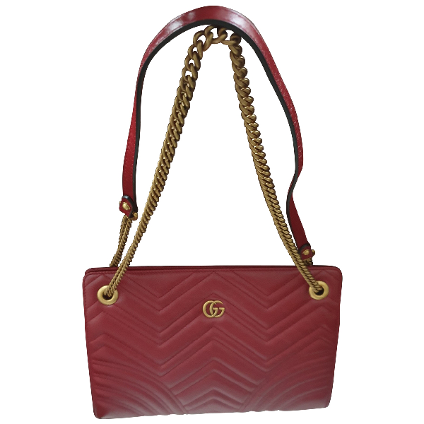 Gucci Marmont Red Leather Handbag