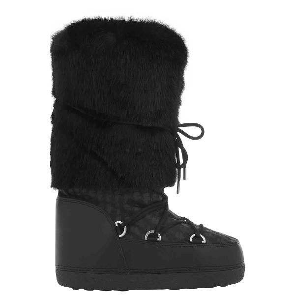 Karl Black Faux Fur Boots