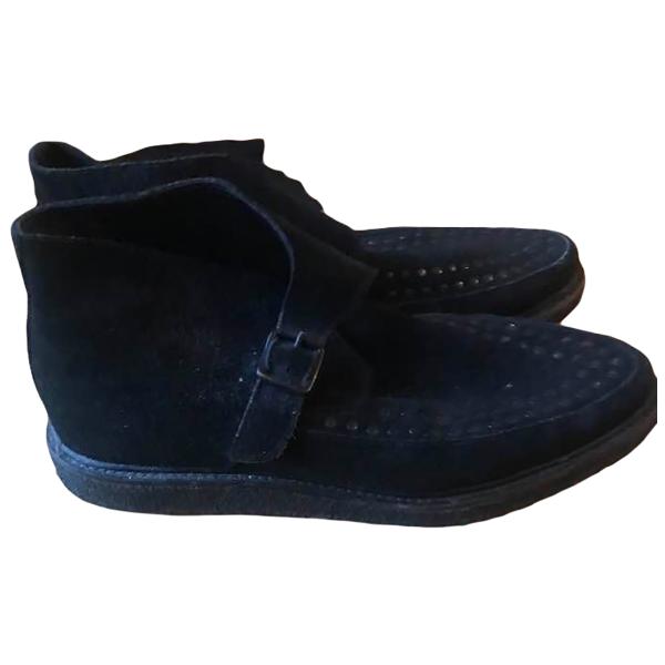 Allsaints Black Suede Boots
