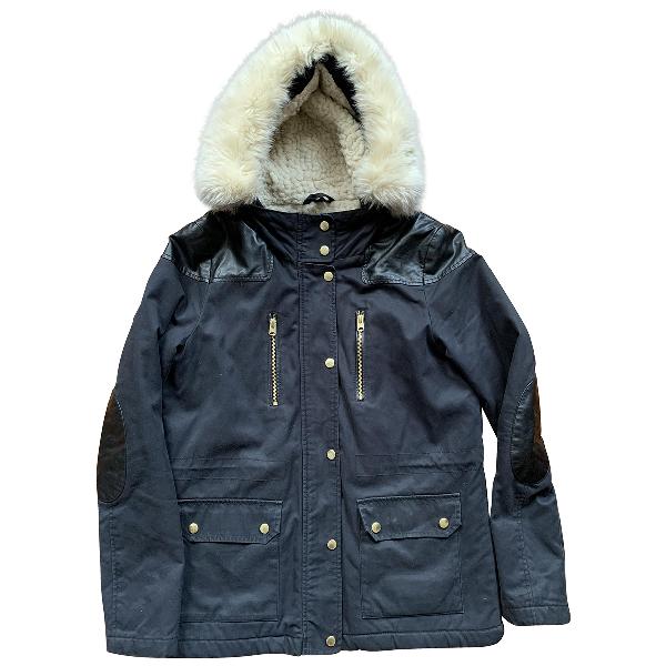 Topshop Tophop  Navy Cotton Coat