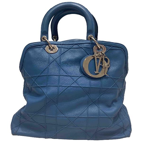 Dior Granville Blue Leather Handbag
