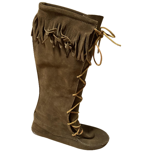 Minnetonka Camel Suede Boots