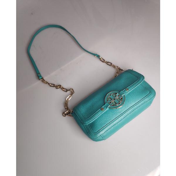 Tory Burch Turquoise Leather Handbag