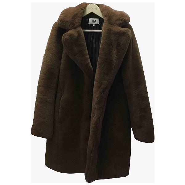 Mkt Studio Brown Faux Fur Coat