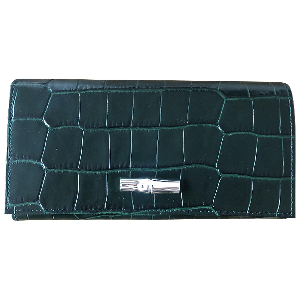 Longchamp Green Leather Purses, Wallet & Cases