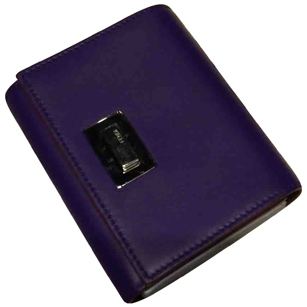 Fendi Purple Leather Purses, Wallet & Cases