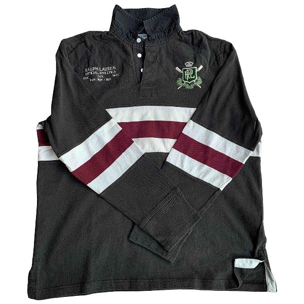 Polo Ralph Lauren Black Cotton Polo Shirts