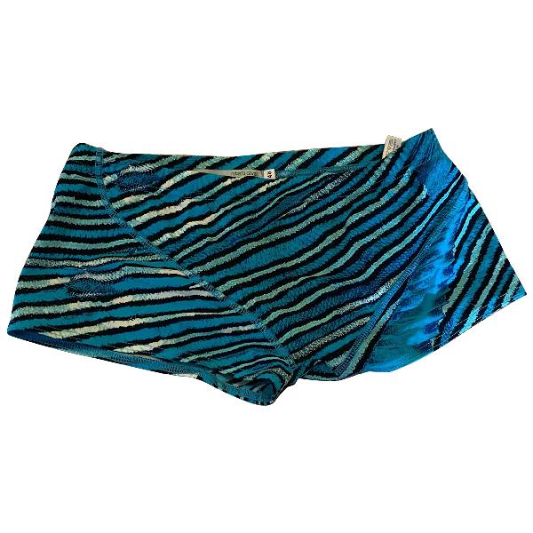 Roberto Cavalli Blue Cotton - Elasthane Swimwear
