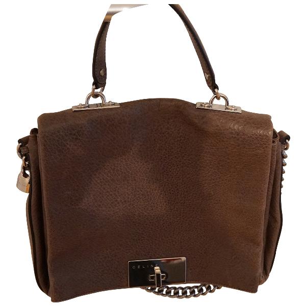Celine Classic Khaki Leather Handbag