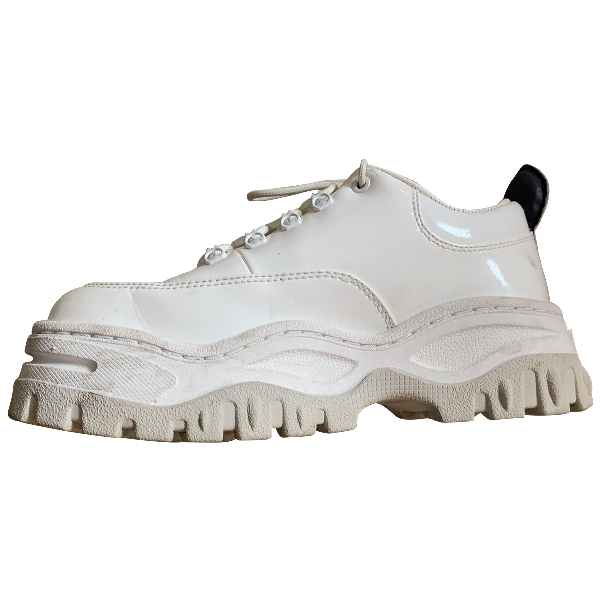 Eytys White Patent Leather Trainers
