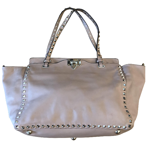Valentino Garavani Rockstud Pink Leather Handbag