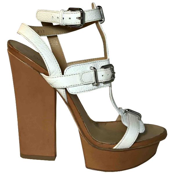 Dsquared2 White Leather Sandals