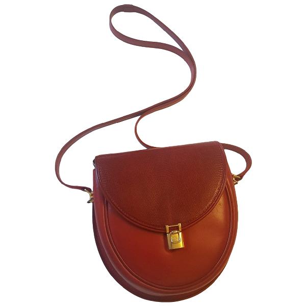 Gucci Red Lizard Clutch Bag